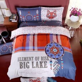 Уценка (дефекты)! Комплект постельного белья Большое озеро (двуспальный-евро) (код товара: 48442): купить в Berni