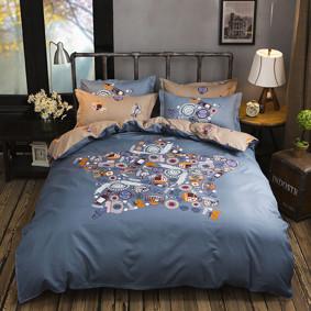 Уценка (дефекты)! Комплект постельного белья Эмблемы (двуспальный-евро) (код товара: 48419): купить в Berni