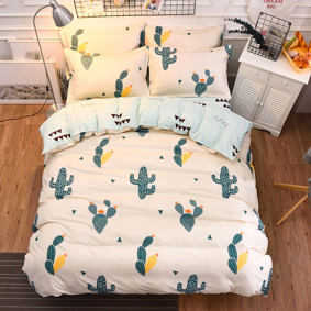 Уценка (дефекты)! Комплект постельного белья Кактус (двуспальный-евро) (код товара: 48456): купить в Berni