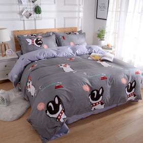 Уценка (дефекты)! Комплект постельного белья Котенок и щенок (двуспальный-евро) (код товара: 48484): купить в Berni