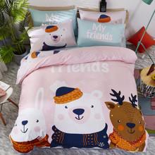 Уценка (дефекты)! Комплект постельного белья Лесные друзья (двуспальный-евро) (код товара: 48435)
