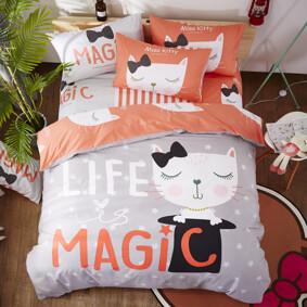 Уценка (дефекты)! Комплект постельного белья Магия (двуспальный-евро) (код товара: 48405): купить в Berni