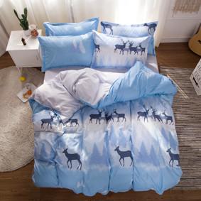 Уценка (дефекты)! Комплект постельного белья Олени (двуспальный-евро) (код товара: 48407): купить в Berni