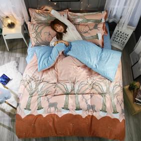 Уценка (дефекты)! Комплект постельного белья Олений лес (полуторный) (код товара: 48460): купить в Berni