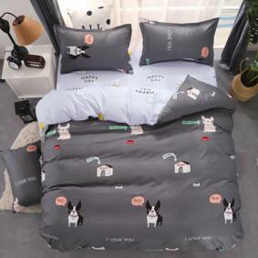 Уценка (дефекты)! Комплект постельного белья Пес (двуспальный-евро) (код товара: 48415): купить в Berni