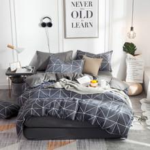 Уценка (дефекты)! Комплект постельного белья Треугольники (двуспальный-евро) (код товара: 48451)