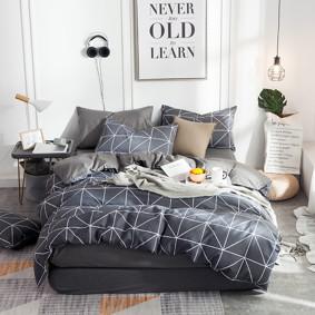 Уценка (дефекты)! Комплект постельного белья Треугольники (двуспальный-евро) (код товара: 48451): купить в Berni