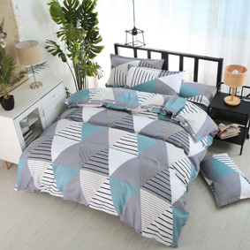 Уценка (дефекты)! Комплект постельного белья Треугольники (полуторный) (код товара: 48421): купить в Berni