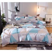 Уценка (дефекты)! Комплект постельного белья Треугольники (полуторный) (код товара: 48452)