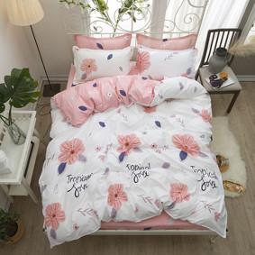 Уценка (дефекты)! Комплект постельного белья Тропическая любовь (двуспальный-евро) (код товара: 48416): купить в Berni