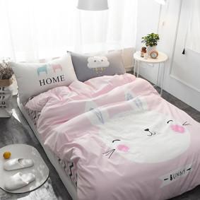 Уценка (дефекты)! Комплект постельного белья Зайчик (полуторный) (код товара: 48461): купить в Berni