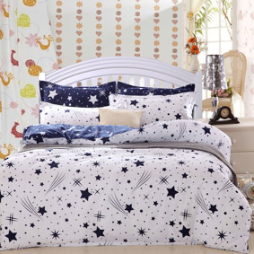 Уценка (дефекты)! Комплект постельного белья Звезды (двуспальный-евро) (код товара: 48486): купить в Berni