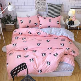 Комплект постельного белья Бульдог (двуспальный-евро) (код товара: 48512): купить в Berni