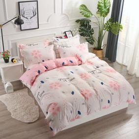 Комплект постельного белья Цветок любви с простынью на резинке (двуспальный-евро) (код товара: 48501): купить в Berni