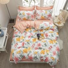 Комплект постельного белья Цветы (полуторный) (код товара: 48513)