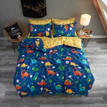 Комплект постельного белья Динозавры (двуспальный-евро) (код товара: 48510)