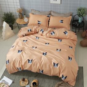 Комплект постельного белья Французский бульдог (двуспальный-евро) (код товара: 48582): купить в Berni