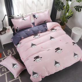 Комплект постельного белья Кот в шляпе (двуспальный-евро) (код товара: 48579): купить в Berni