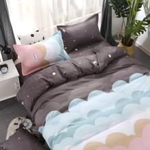 Комплект постельного белья Облака (двуспальный-евро) (код товара: 48585)