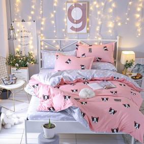 Комплект постельного белья Пес с простынью на резинке (двуспальный-евро) (код товара: 48552): купить в Berni
