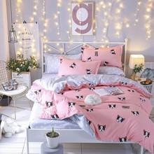 Комплект постельного белья Пес с простынью на резинке (полуторный) (код товара: 48551)