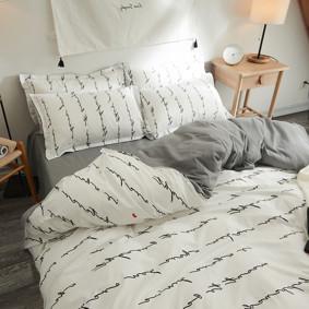 Комплект постельного белья Письмо (двуспальный-евро) (код товара: 48588): купить в Berni