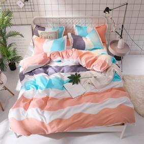Комплект постельного белья Полосы (двуспальный-евро) (код товара: 48558): купить в Berni