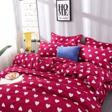 Комплект постельного белья Сердца (двуспальный-евро) (код товара: 48520)