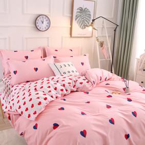 Комплект постельного белья Сердца (двуспальный-евро) (код товара: 48572): купить в Berni