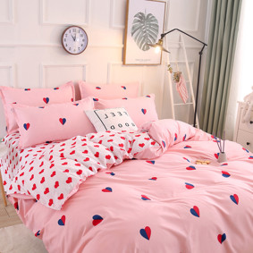 Комплект постельного белья Сердца (полуторный) (код товара: 48571): купить в Berni