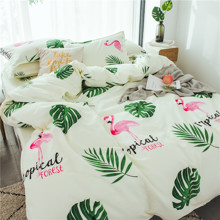 Комплект постельного белья Тропический лес (двуспальный-евро) (код товара: 48597)