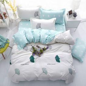 Комплект постельного белья Зеленое сердце (евро) (код товара: 48540): купить в Berni