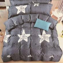 Комплект постельного белья Звезда с простынью на резинке (двуспальный-евро) (код товара: 48591)