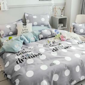 Комплект постельного белья Единорог (двуспальный-евро) (код товара: 48615): купить в Berni