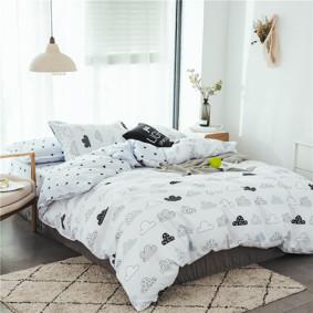 Комплект постельного белья Тучи (двуспальный-евро) (код товара: 48609): купить в Berni