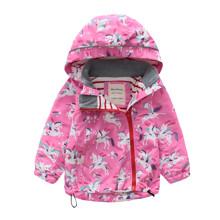 Куртка для девочки демисезонная Единороги оптом (код товара: 48621)