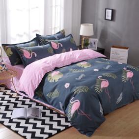 Уценка (дефекты)! Комплект постельного белья Фламинго (двуспальный-евро) (код товара: 48673): купить в Berni