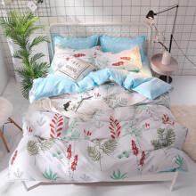 Уценка (дефекты)! Комплект постельного белья Красные колокольчики (двуспальный-евро) (код товара: 48676)