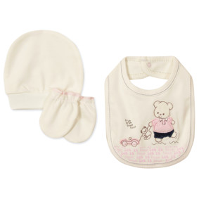 Комплект 3 в 1 для новорожденной девочки оптом (код товара: 48762): купить в Berni