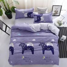 Комплект постельного белья Пегас (двуспальный-евро) (код товара: 48794)