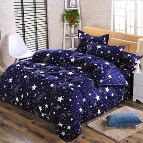 Комплект постельного белья Звездное небо (двуспальный-евро) (код товара: 48787): купить в Berni