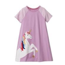 Плаття для дівчинки Квітковий єдиноріг оптом (код товара: 48769)