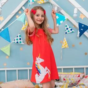 Платье для девочки Единорог (код товара: 48768): купить в Berni