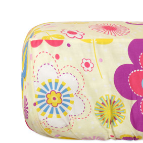 Простынь на резинке Полевые цветы 150x200+25 см оптом (код товара: 48765): купить в Berni