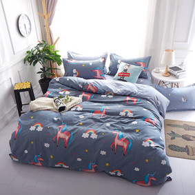 Уценка (дефекты)! Комплект постельного белья Единорог (полуторный) (код товара: 48715): купить в Berni