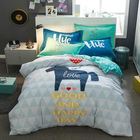 Уценка (дефекты)! Комплект постельного белья Хороший день (двуспальный-евро) (код товара: 48711): купить в Berni