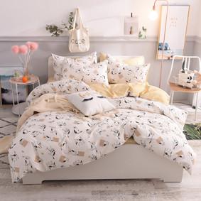 Уценка (дефекты)! Комплект постельного белья Игривый кот (двуспальный-евро) (код товара: 48705): купить в Berni