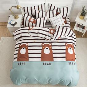 Уценка (дефекты)! Комплект постельного белья Мишка (двуспальный-евро) (код товара: 48709): купить в Berni