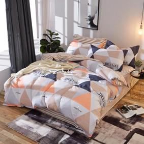 Уценка (дефекты)! Комплект постельного белья Треугольники (двуспальный-евро) (код товара: 48706): купить в Berni
