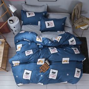 Уценка (дефекты)! Комплект постельного белья Улыбка пса (полуторный) (код товара: 48708): купить в Berni